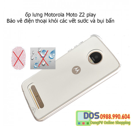 Ốp lưng Motorola moto z2 play silicone trong suốt 5