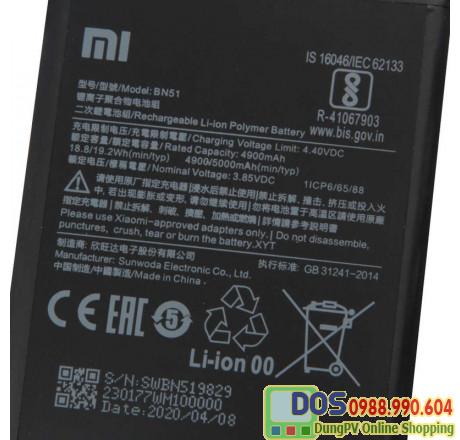 thay pin điện thoại xiaomi redmi 8a chính hãng 4