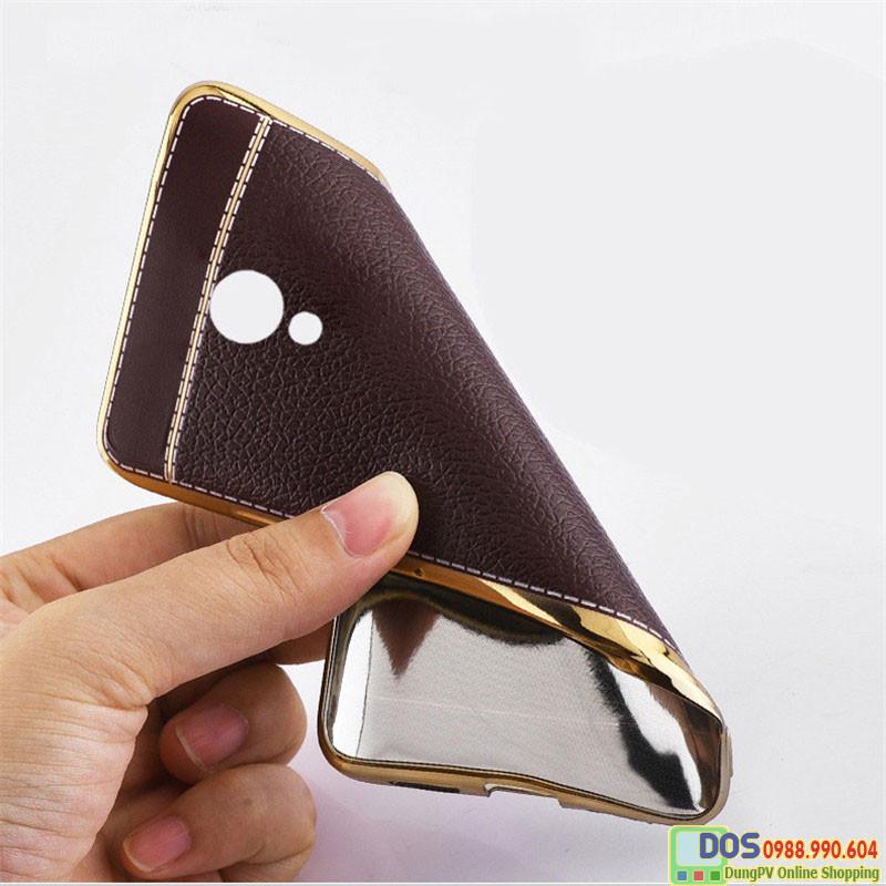 Ốp da Meizu M5s silicone phủ da, ốp lưng Meizu M5s