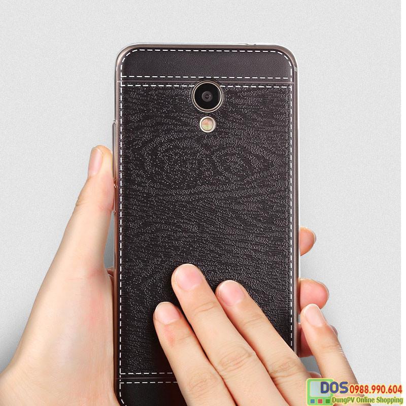 Ốp da Meizu M3 Note silicone phủ da, ốp lưng Meizu M3 note