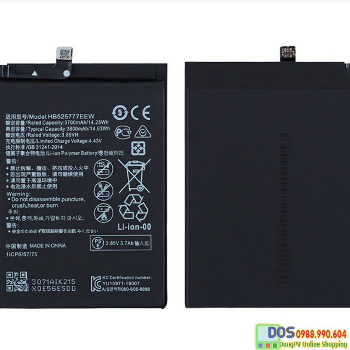 thay pin điện thoại huawei p40 chính hãng 1
