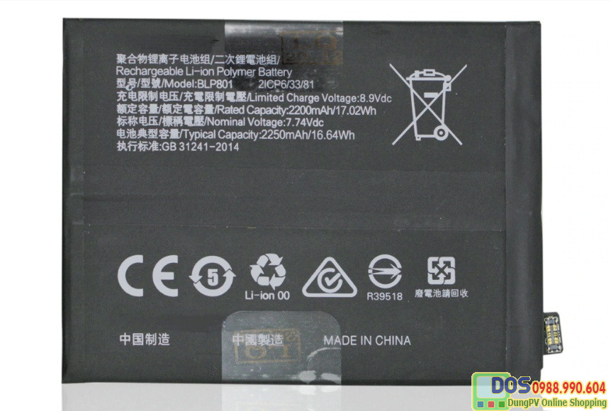 thay pin điện thoại oneplus 8t chính hãng