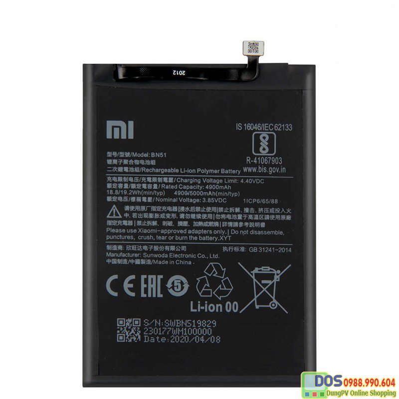 thay pin điện thoại xiaomi redmi 8a chính hãng 1