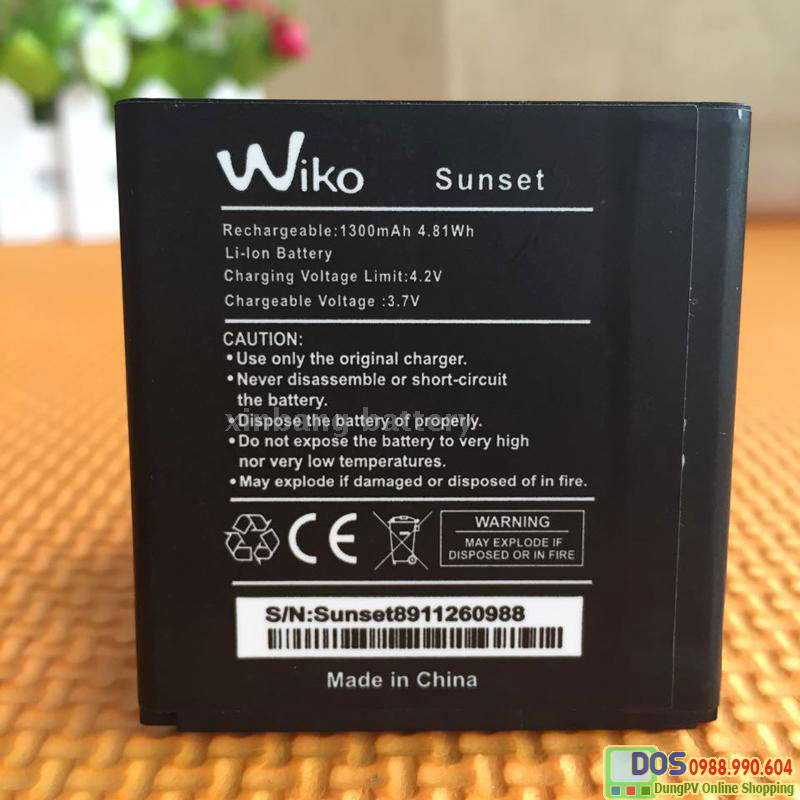 pin điện thoại Wiko Sunset