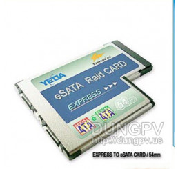 Express card 54 mm to 2 esata