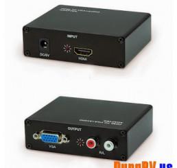 Chuyển VGA + audio sang HDMI adapter