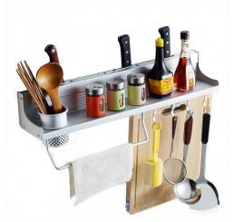 Giá để đồ phòng bếp cao cấp kèm ống đũa, kệ đựng đồ nhà bếp