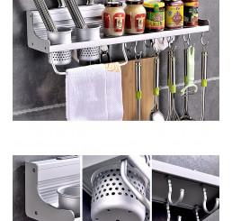 Giá để đồ phòng bếp cao cấp kèm 2 cốc, kệ bếp đa chức năng
