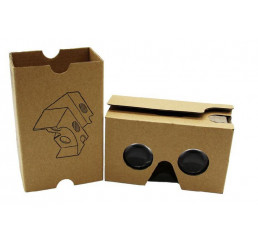 Kínhh thực tế ảo Google Cardboard phiên bản 2 hàng giấy Kaft xuất khẩu không cần gạt