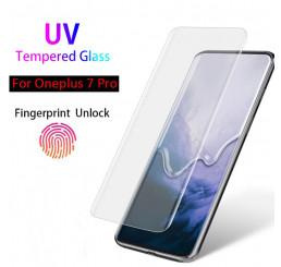 Kính cường lực Oneplus 7 Pro UV chính hãng full màn hình, dán màn hình oneplus 7 pro full keo uv