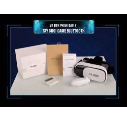 Bộ sản phẩm kính thực tế ảo VR Box phiên bản 2 và tay chơi game bluetooth