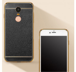 Ốp  lưng Xiaomi Redmi note 4 silicone phủ da , ốp da xiaomi Redmi note 4