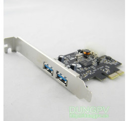 PCI-Express card to USB 3.0 x 2