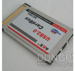 PCMCIA to usb 2.0 x2 adapter