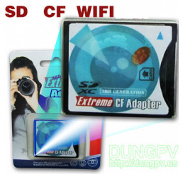 SD to CF II, hỗ trợ SD wifi