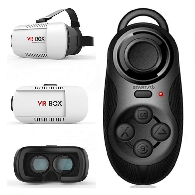 kính thực tại ảo vr box kèm tay chơi game ti hon điều khiển từ xa bluetooth